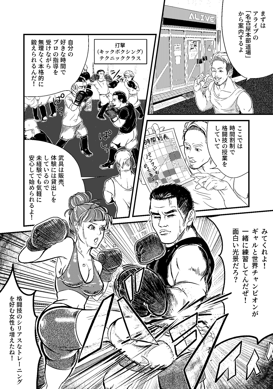 格闘道場 漫画付き8つ折りパンフレット