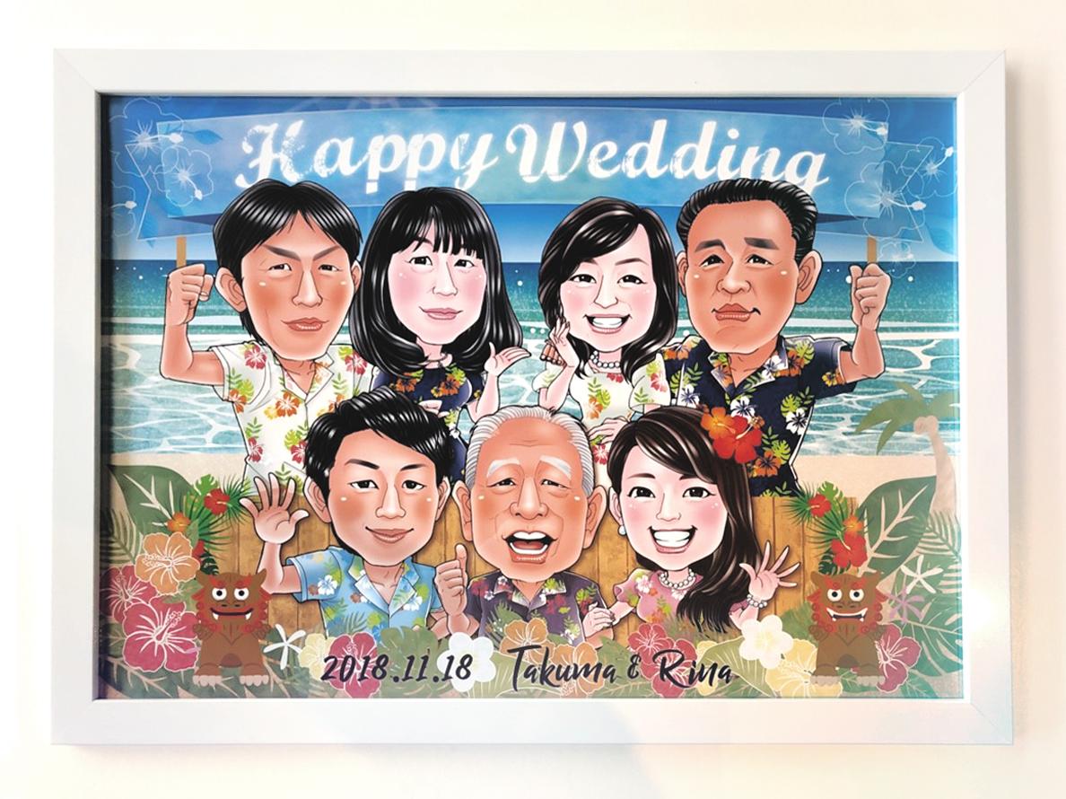 沖縄風 大人数 ウェルカムボード