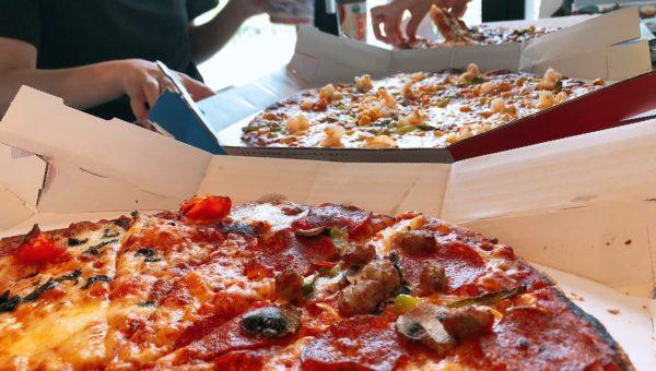 たまにはと思いのんびりピザパしちゃいました