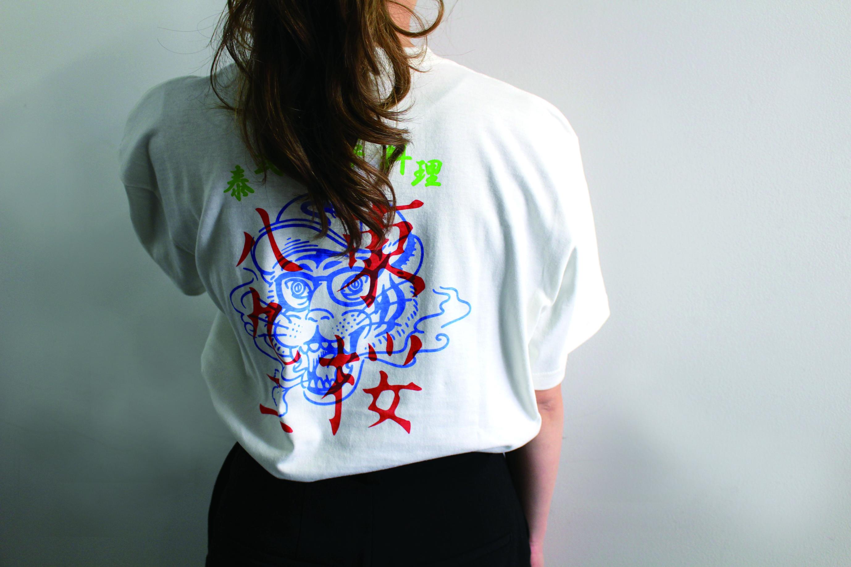 東桜パクチー様【カラーバックプリント半袖Tシャツ】